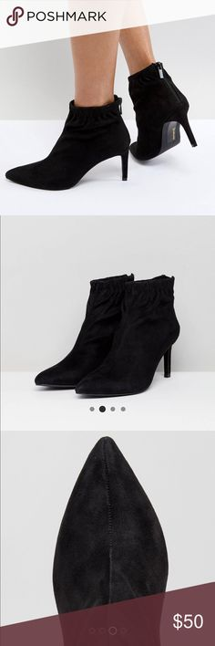 Stradivarius Booties Worn once, like new condition. They too big on me unfortunately. A true size 9. ASOS Shoes Ankle Boots & Booties