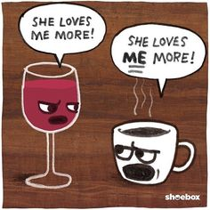 I love you both equally guys  . . . . #wine #coffee #fridaynight #happyfriday #love
