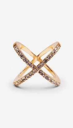 pave crossed ring