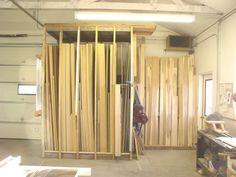 Résultat d'images pour Lumber Storage Rack Art Studio Storage, Art Storage, Workshop Storage, Storage Shelves, Workshop Organization, Tool Storage, Lumber Storage Rack, Plywood Storage, Lumber Rack