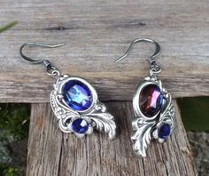 Purple Passion  Silver earrings with vintage by FlightsOfFancyOZ, $25.00