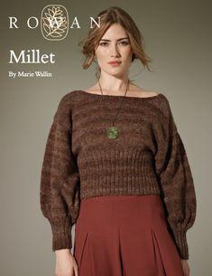 Free 1930's Knitting Pattern Millet Womens Bishop Sleeve Jumper