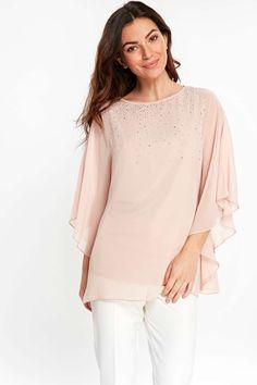 17c1d45a0651c Pink Embellished Sparkle Top - Tops - Clothing