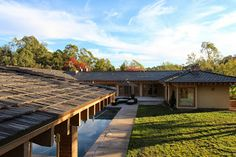 Love this Boral Madera Tile Roof! It looks like a wood shake roof, but it is easier to maintain and isn't flammable!