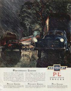 1950's Chevrolet truck ad.