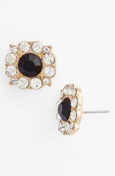crystal floral stud earrings / nordstrom