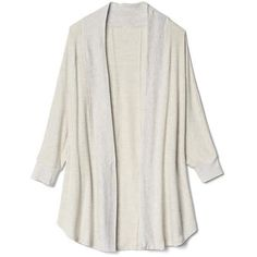 Softspun open-front cardigan | Gap found on Polyvore featuring women's fashion, tops, cardigans, open front cardigan and open cardigan