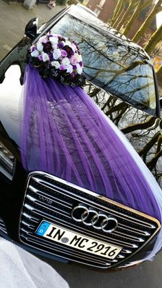 Car decoration handmade … We think that tattooing can be a method that's been used since the time of the … Wedding Reception Ideas, Wedding Car Decorations, Wedding Planning, Arab Wedding, Wedding Pics, Wedding Cards, Bridal Car, Arch Decoration, Blue Wedding Flowers