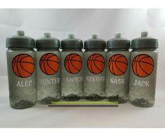 Basketball personalized kids sports water bottle