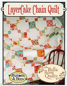 Quilt-Pattern-LAYER-CAKE-CHAIN-QUILT-by-Buttons-Bees