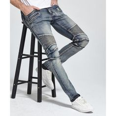 Jeans Men Jeans Design Biker Jeans Skinny Strech Casual Jeans For Men Good Quality Not Sure Size ? Tell US Height,Weight,Pants Waist Our Size/US Size Euro France/Italy Pants Waist Pants Length 28 44 38 30 46 40 32 48 42 34 50 44 36 52 46 38 54 48 Denim Jeans, Jeans Casual, Ripped Biker Jeans, Blue Jeans, Shoes With Jeans, Jeans Style, Skinny Jeans, Outfit Jeans, Jean 1