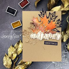 Loose Watercoloring and the Honey Bee Stamps Autumn Afternoon Release (VIDEO+GIVEAWAYS!)