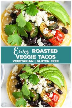 Curry Powder Recipes - Indian Curries and Garam Masala - Steps to Making Different Types of Curries These Easy Roasted Veggie Tacos Make The Best Quick And Healthy Dinner Recipe These Tacos Are Vegetarian And Gluten Free. They're Full Of Roasted Zucchini, Veggie Tacos, Vegetarian Tacos, Vegetarian Main Dishes, Healthy Tacos, Vegetarian Recipes, Vegetarian Dinners, Vegan Meals, Vegetable Recipes, Healthy Food