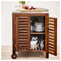 The new Ikea barbecue is perfect for customising your outdoor cooking station to your precise requirements Ikea Outdoor, Outdoor Buffet, Outdoor Decor, Outdoor Storage Boxes, Bench With Storage, Patio Storage, Storage Benches, Storage Cart, Extra Storage
