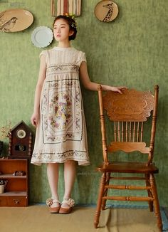 """""""Lovely dress and furniture"""""""