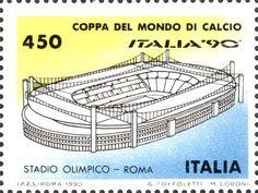 Francobollo dedicato ai Mondiali di calcio disputati in Italia nel '90