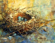 """Avian Architecture - Demo at Gallery"" - Original Fine Art for Sale - © Julie Ford Oliver Watercolor Paintings, Original Paintings, Watercolors, Original Artwork, Gauguin, Matisse, Fine Art Gallery, Bird Art, Monet"