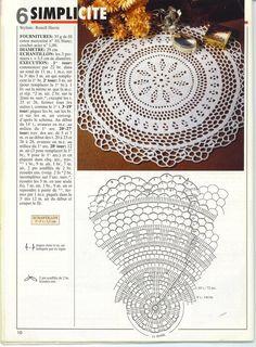 "Photo from album ""Tricot Selection Crochet d'Art on Yandex. Crochet Doily Diagram, Crochet Doily Patterns, Freeform Crochet, Crochet Designs, Crochet Needles, Thread Crochet, Crochet Home, Crochet Gifts, Crochet Mandela"