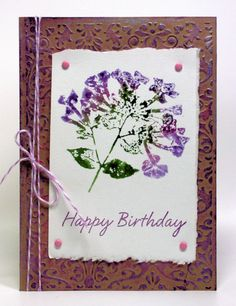 Love these...Make cards using stamps, water colors, gel sticks--by Lindsay The Frugal Crafter....DCF 1.0