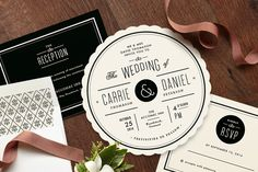 Set the tone for your special day with a classic wedding invitation design from Minted's community of global artists.
