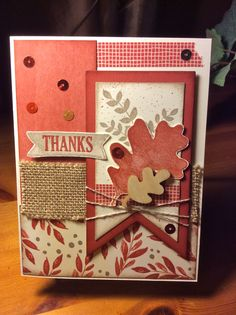 """Fall card created from """"For All Things"""" Stampin' Up! Stamp Set.  Go to my blog for products used: simplyhis.stampinup.net"""