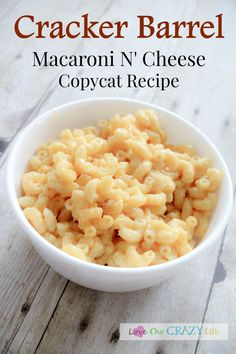 Do you LOVE Cracker Barrel's Macaroni N' Cheese? We sure do. We don't get to go much anymore, so we duplicated the recipe and I am sharing it with you!
