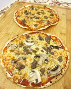 Cracker Pizza | Plain Chicken1 Large Tortilla 3 Tbsp pizza sauce 1/3 cup mozzarella cheese toppings of your choice - pepperoni, mushrooms, sausage, peppers