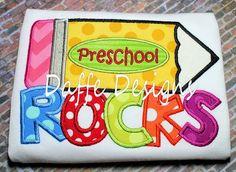 Preschool Kindergarten 1st 2nd 3rd Grade Rocks by daffedesigns, $25.00