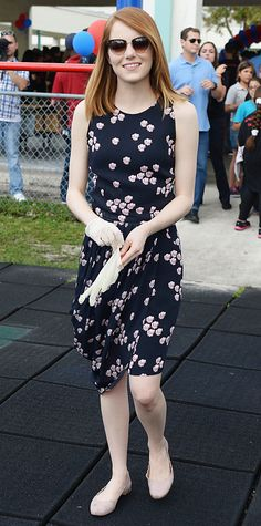 Look of the Day - April 23, 2014 - Emma Stone in A.L.C. from #InStyle