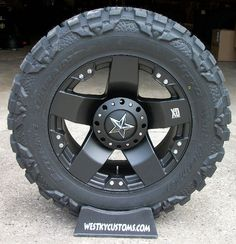 Nitto Mud Grappler and Black XD Rockstars