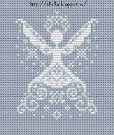 cross stitch angel with crown