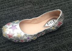 Bloch Etoile Argento Silver with Coloured Stars #balletpump #girlsshoes