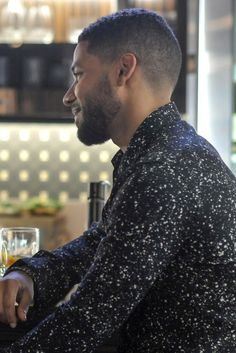Jamal Lyon wearing  Saint Laurent Paint Splatter Shirt