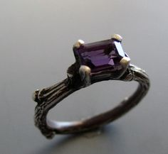 Twig solitaire sterling silver and by iacua, $258.00