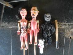 Bonecos/ títeres de Sandro Roberto Foto: Maria Madeira