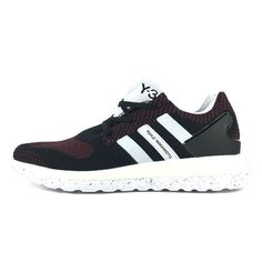 Adidas Y-3 PURE Primeknit Boost ZG Kint Black red noir rougeMen s Running  shoes AQ5733 a725337df