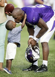Adrian Peterson and Adrian Jr. Minnesota Vikings