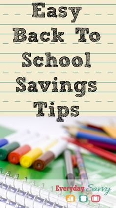 Back to School Savings Tips and Sale Information