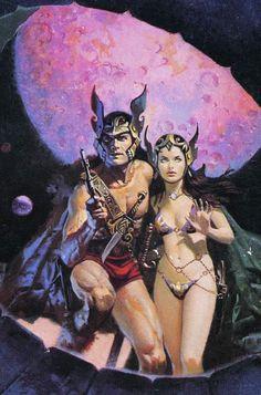 - …pulp sci-fi/fantasy art by Jordi Penalva Science Fiction Art, Pulp Fiction, Sci Fi Fantasy, Dark Fantasy, Robert E Howard, John Carter Of Mars, Serpieri, Sci Fi Comics, Arte Cyberpunk