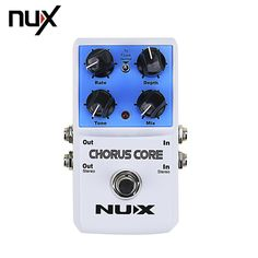 NUX CHORUS CORE Multi Modulation Guitar Effects Pedal Chorus Flanger Phase Lock Preset Function True Bypass #Affiliate