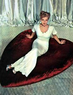 Lana Turner wants me to be her Valentine, too!  What a great year this is turning out to be!  Marilyn, Rita, Lana...