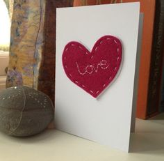 Sewn With Love Card - Whether it's your sweetheart, sibling, or child, you know you want to make a little DIY Valentine's Day project for them.