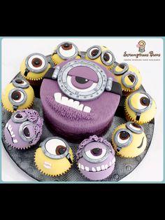 Minion - I had a purple smurf cake at 16... Can I have a purple minion cake next????