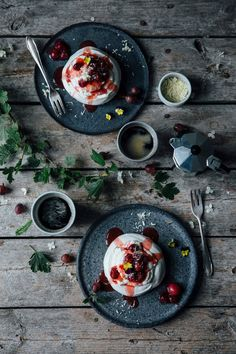 Delta Breezes... — Mini Pavlova w/Gooseberry Compote | Our Food...
