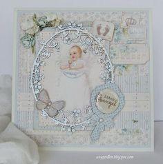 GD Pion Design-Dåpskort med en gaveeske