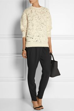DAY Birger et Mikkelsen | Classic satin-trimmed gabardine tapered pants | NET-A-PORTER.COM