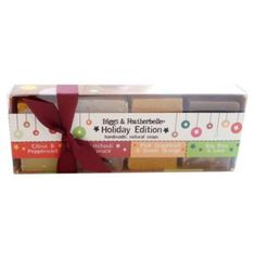 Bar Soap Gift Set, Contains 1 each of Citrus & Peppermint, Bay Rum & Lime, Spruce & Patchouli, and Pink Grapefruit & Sweet Orange Bar Soap