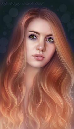 Girl (portrait) by Ennya7.deviantart.com on @deviantART