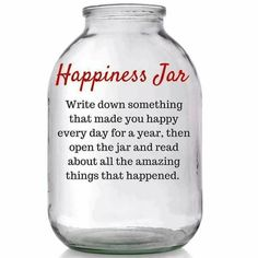 What a great tradition. This year pass a large mason jar around the table and ask everyone to write down something that makes them happy and then add a new note every day. Open the jar next thanksgiving and literally count your blessings! Happy Jar, Make Happy, Are You Happy, Mason Jar Crafts, Mason Jars, Bottle Crafts, Prayer Jar, Gratitude Jar, Spiritus