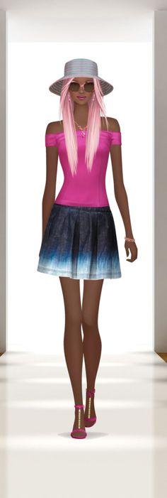 Hot, Hot Summer Fantasy Girl, Fashion Games, Skater Skirt, Hot, Skirts, Anime, Dresses, Woman, Vestidos